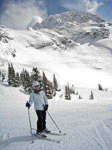 Margaret at Seventh Heaven; Blackcomb Mountain