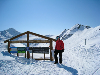 David at the Blackcomb Glacier