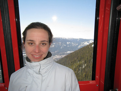 Margaret on the Whistler-Blackcomb Gondola