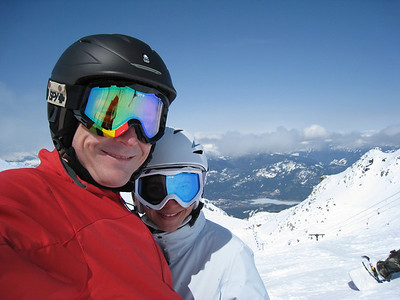 David and Margaret on Blackcomb Mountain