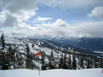 View Back to Whistler Mountain from Blackcomb