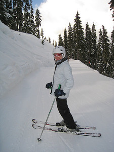 Margaret Skiing Blackcomb Mountain