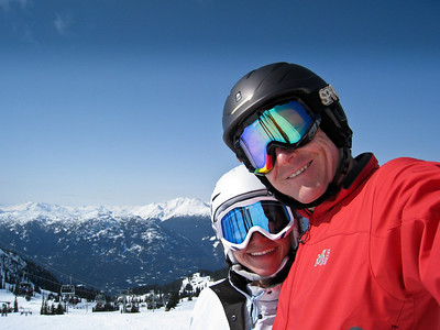David and Margaret Skiing Whistler Mountain