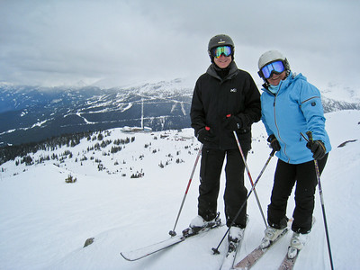 David and Asterix (Level 5 Ski School)