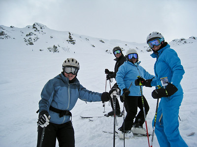 David and the Level 5 Ski Group on Whistler Bowl