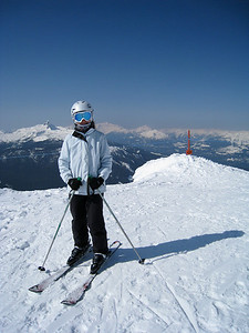 Margaret on the Peak of Whistler Mountain
