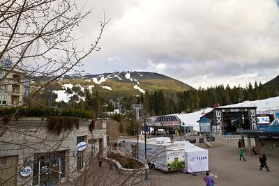 Blackcomb Mountain from Whistler Village
