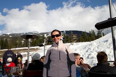 Apres Ski on the Slopes of Whistler Mountain