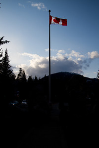 The Flag Flies High over Blackcomb Village