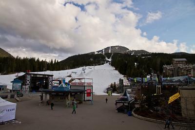 Whistler Mountain; Setup for Tellus Snowboard Festival