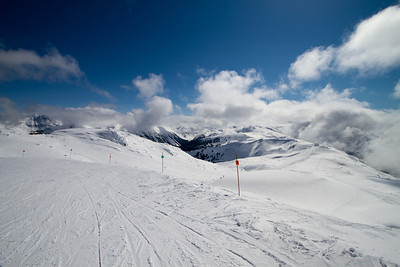 The Track From Whistler Mountain Over The Back to Gentler Slopes