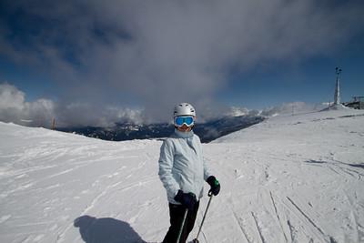 Margaret on the Peak of Whistler Mountain