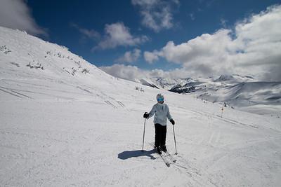 Margaret Skiis the Back Country of Whistler Mountain