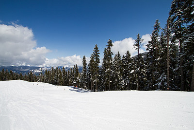 The Track from the Back Slopes to the Main Whistler Front Valley