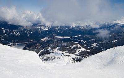 Whistler Village from Whistler Peak