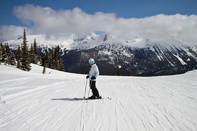 Margaret Skiing the Backcountry of Whistler