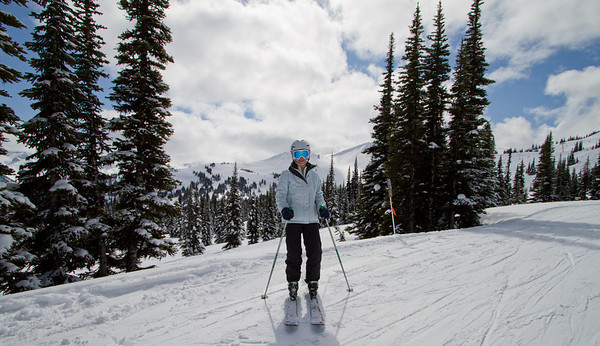 Margaret Skiing the Backcountry of Whistler