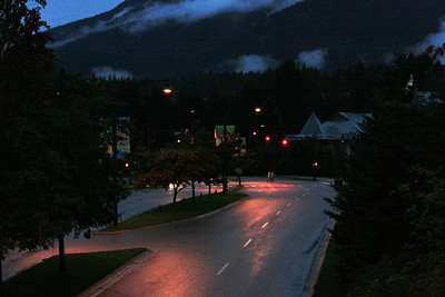 whistler at night