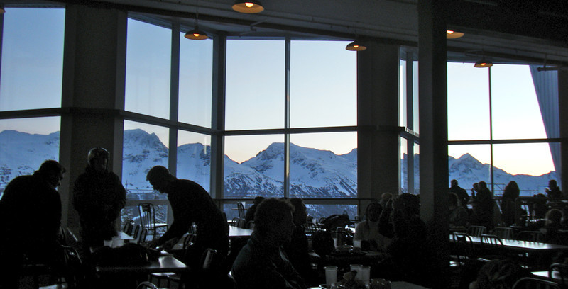 From the huge dining area of the mid-mountain restaraunt