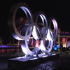 The Olympic Rings in Whistler village (site of the 2010 winter Olympics)