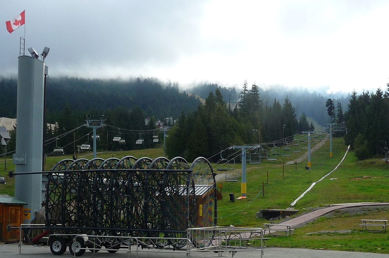 Blackcomb ski area waiting for snow