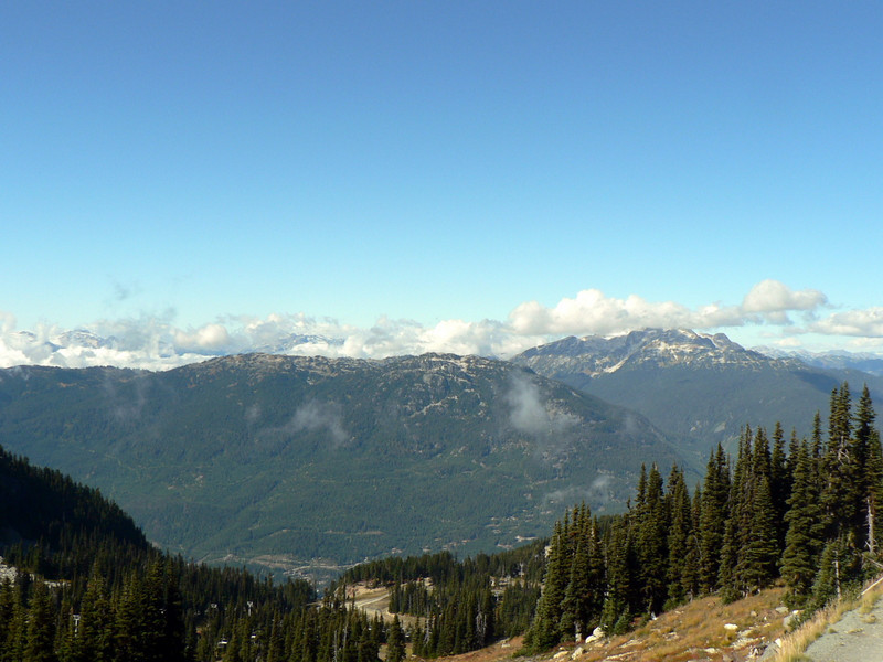 Views from the top of Whistler Mt.