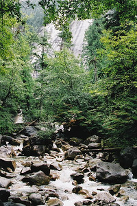 The bottom of Shannon Falls