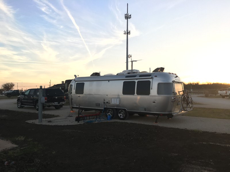 The huge antenna is *not* on the trailer