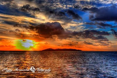 Sunset in the Whitsunday Islands, Australia April 12, 2006