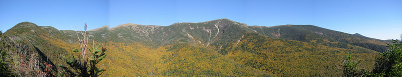 Left to right: Mount Lafayette, Mount Lincoln, and Mount Haystack