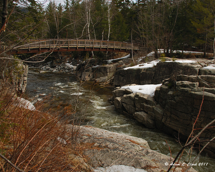 The bridge just below the falls