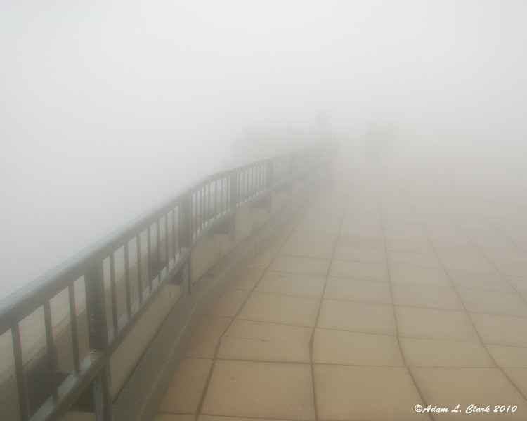 The edge of the observation deck