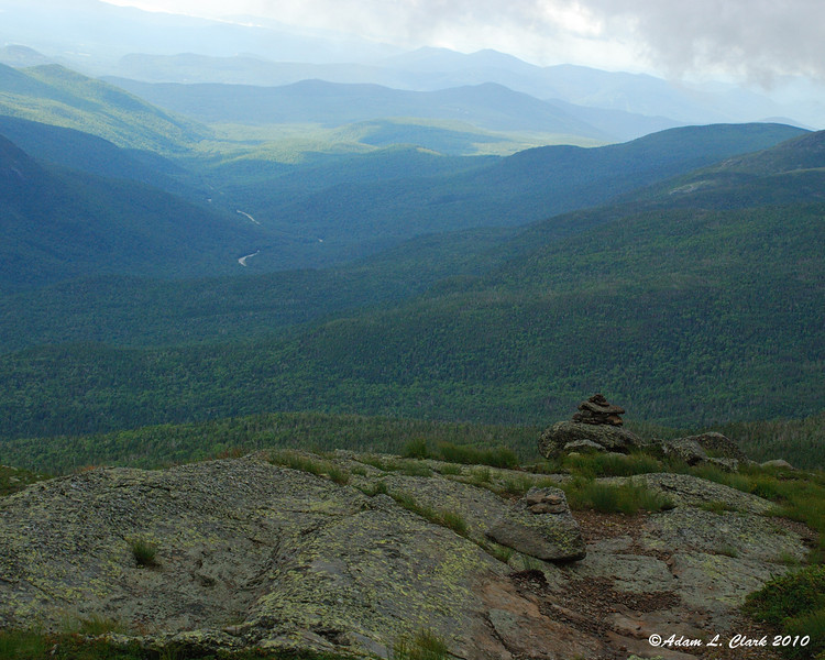 Looking down into Huntington Ravine to Pinkham Notch