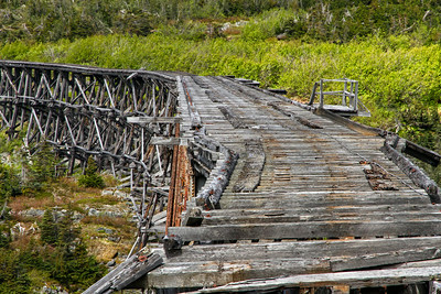 Trestle is left to elements of nature.
