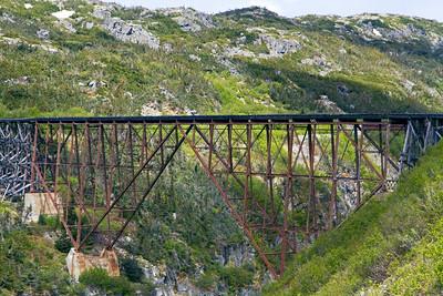 Approaching an old railway bridge