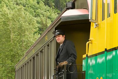 Brakeman on the train