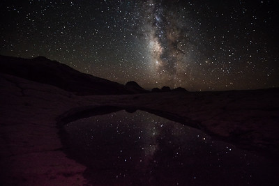 Milky Way reflection, White Pocket