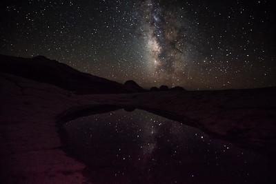 Milky Way reflection, White Pocket
