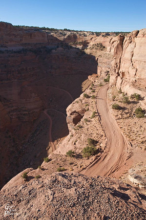 First view of the Shafer Trail.