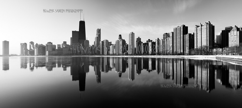 Panorama of Gold Coast in Chicago