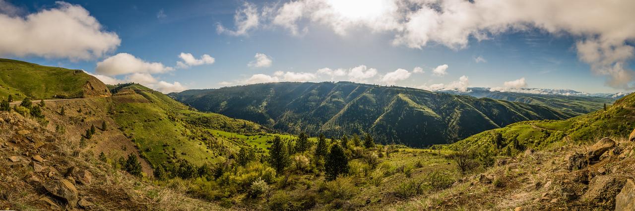 whitebird hill panorama idaho