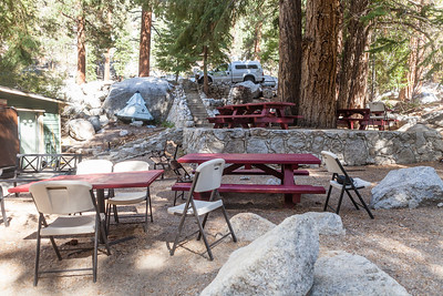 The patio is where we eat at the trails end