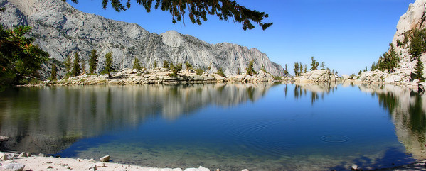 Siesta View at Lone Pine Lake (2 Photo Panorama)