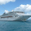 Cruise ship anchored at Whitsundays, Australia.