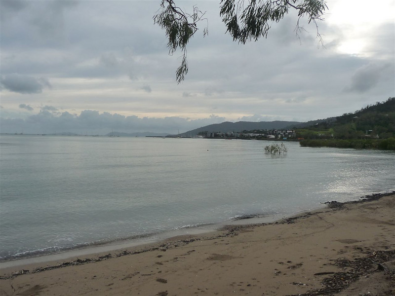 Cannonvale Beach with Shingley Beach and Abel Point in the background and Coral Sea to the west.