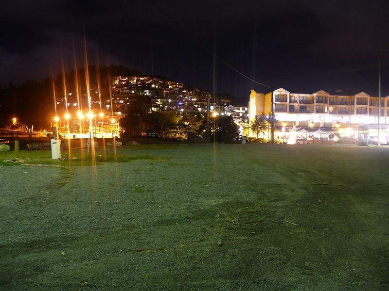 Airlie Beach hillside in the evening.
