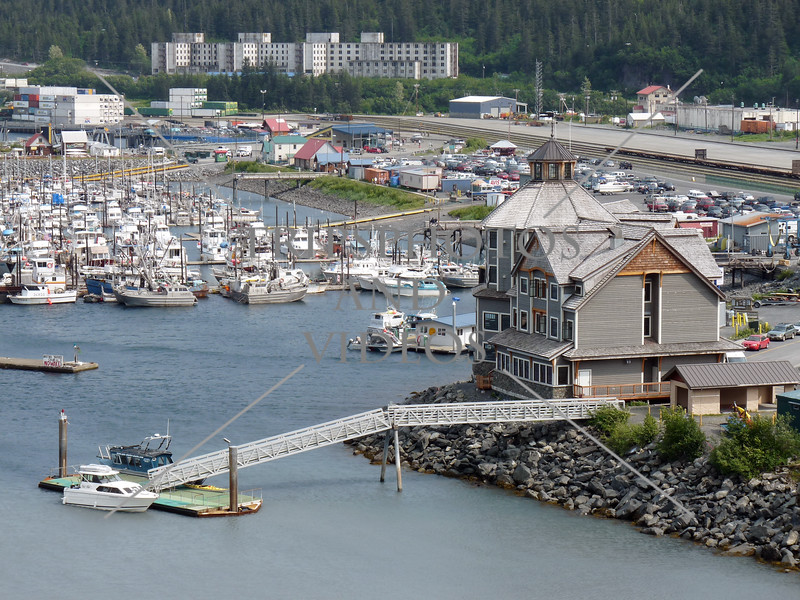 The marina at the Port in Whittier, Alaska.