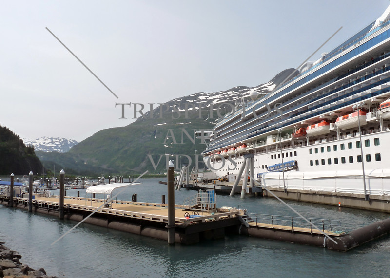A cruise ship docked at the Port in Whittier, Alaska.