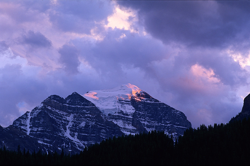 Fading Alpenglow as Storms Approach