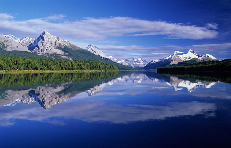 Maligne Lake Reflection